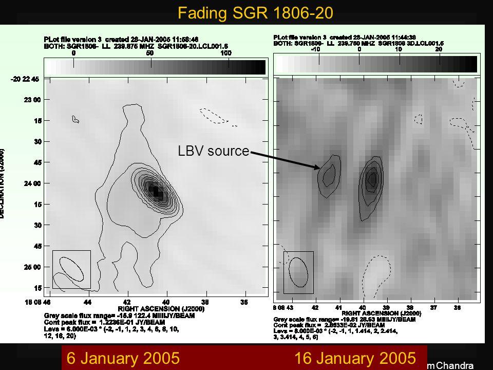 13 th July 2005Poonam Chandra LBV source Fading SGR 1806-20 6 January 2005 16 January 2005