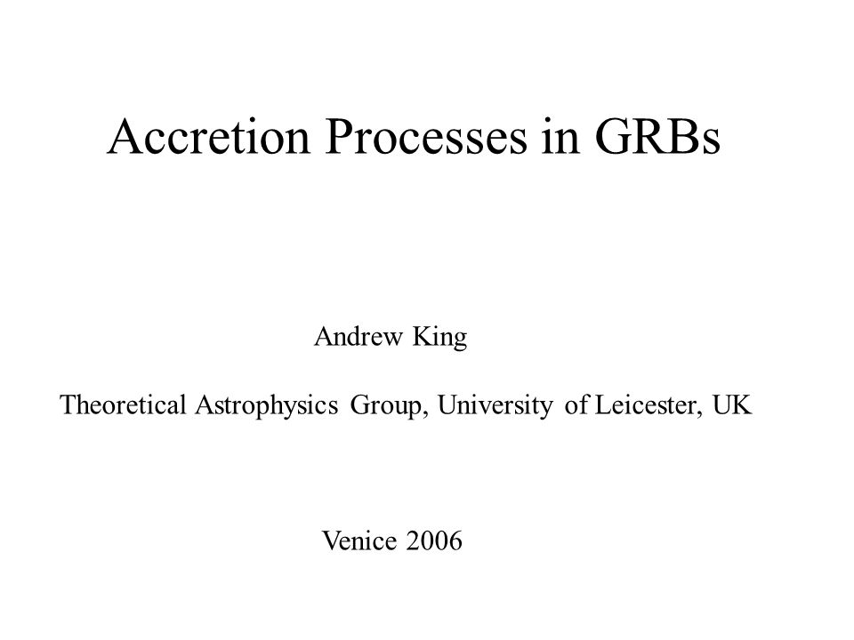 …. a rough guide to accretion mechanisms or