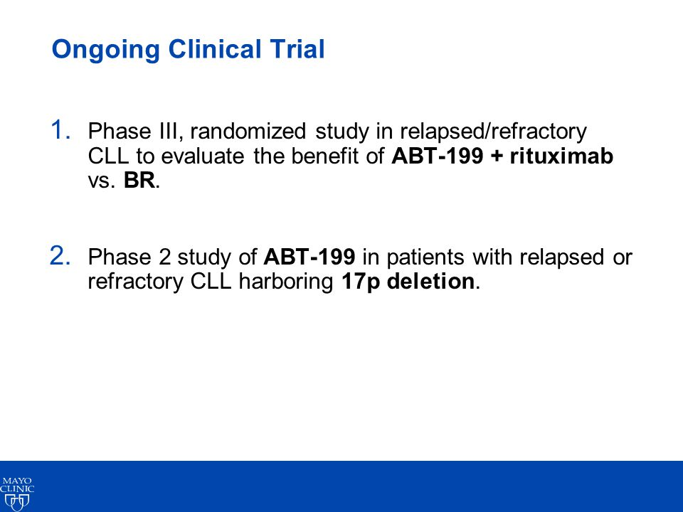 Ongoing Clinical Trial 1.