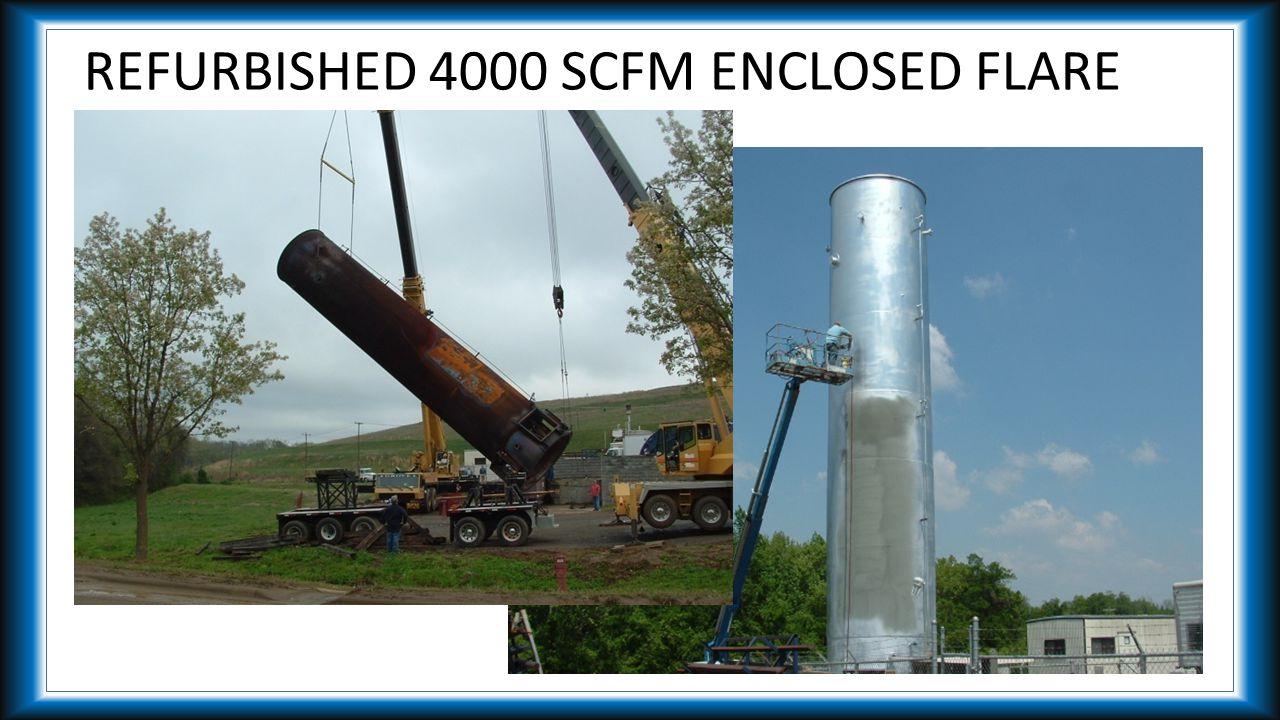 REFURBISHED 4000 SCFM ENCLOSED FLARE