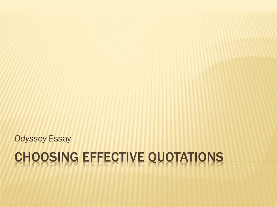 odyssey essay oodysseus is considered one of the greatest  1 odyssey essay