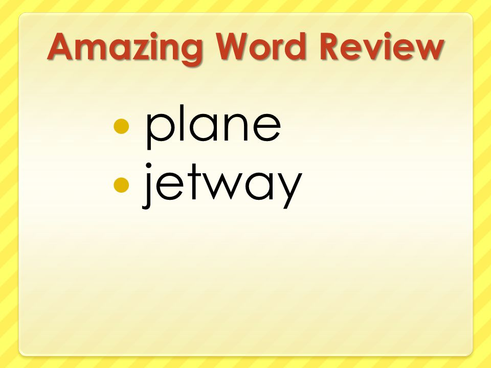 Amazing Word Review plane jetway