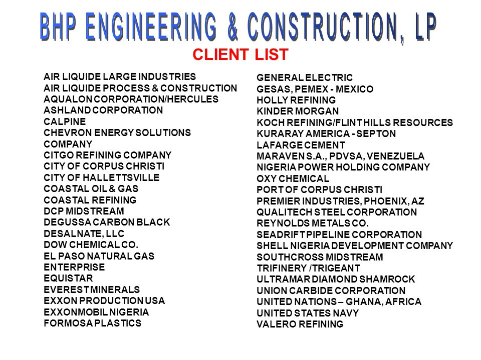  WATER TREATING / RO  WASTE WATER TREATING  ROADS, HIGHWAYS & RAILROADS  MARINE ENGINEERING INFRASTRUCTURE SPECIALIZATIONS  FEA ANALYSIS  CFD ANALYSIS  SOLIDS / BULK MATERIAL  SURVEY / GIS / LASER SCANNING  EVAPORATIVE AIR COOLING MECHANICAL  PROCESS HAZARDS ANALYSIS  PROCESS ANALYZER  SCADA  DCS  FURNACE EFFICIENCY IMPROVEMENT  SURVEY, DESIGN, TUNE UP  FLARE GAS RECOVERY  NOX REDUCTION FURNACE & FLARE OTHER AREAS