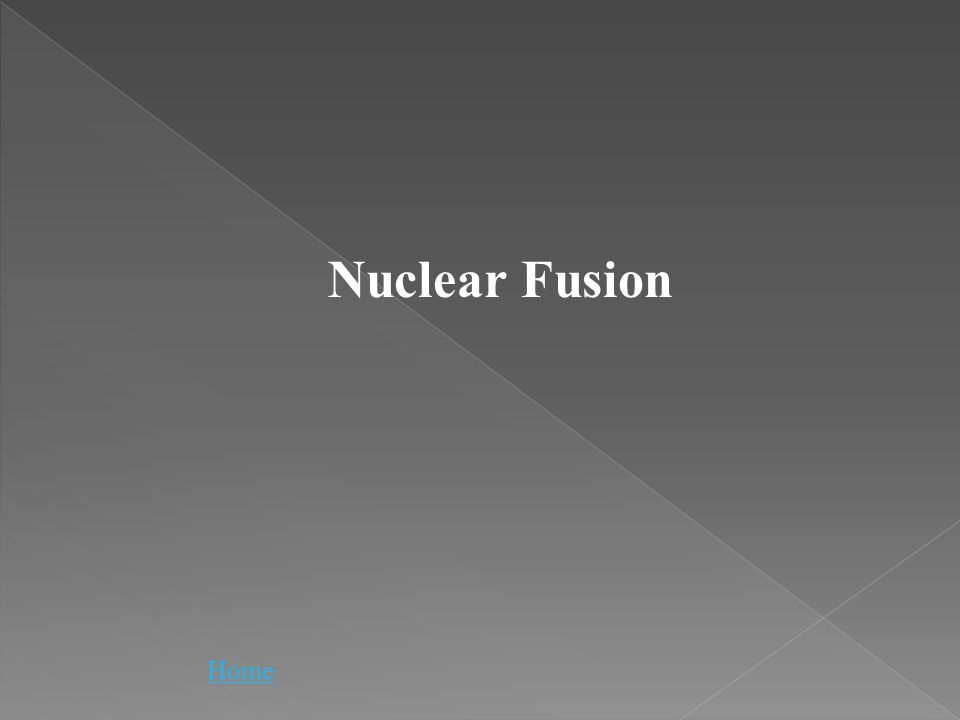 Nuclear Fusion Home
