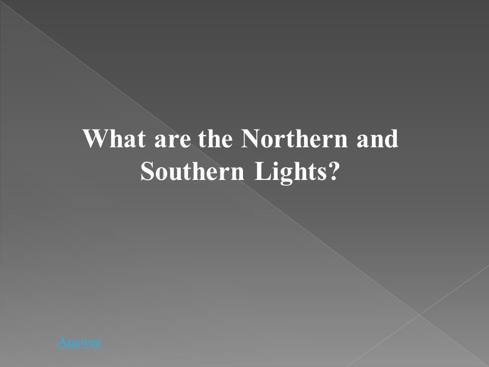 What are the Northern and Southern Lights? Answer