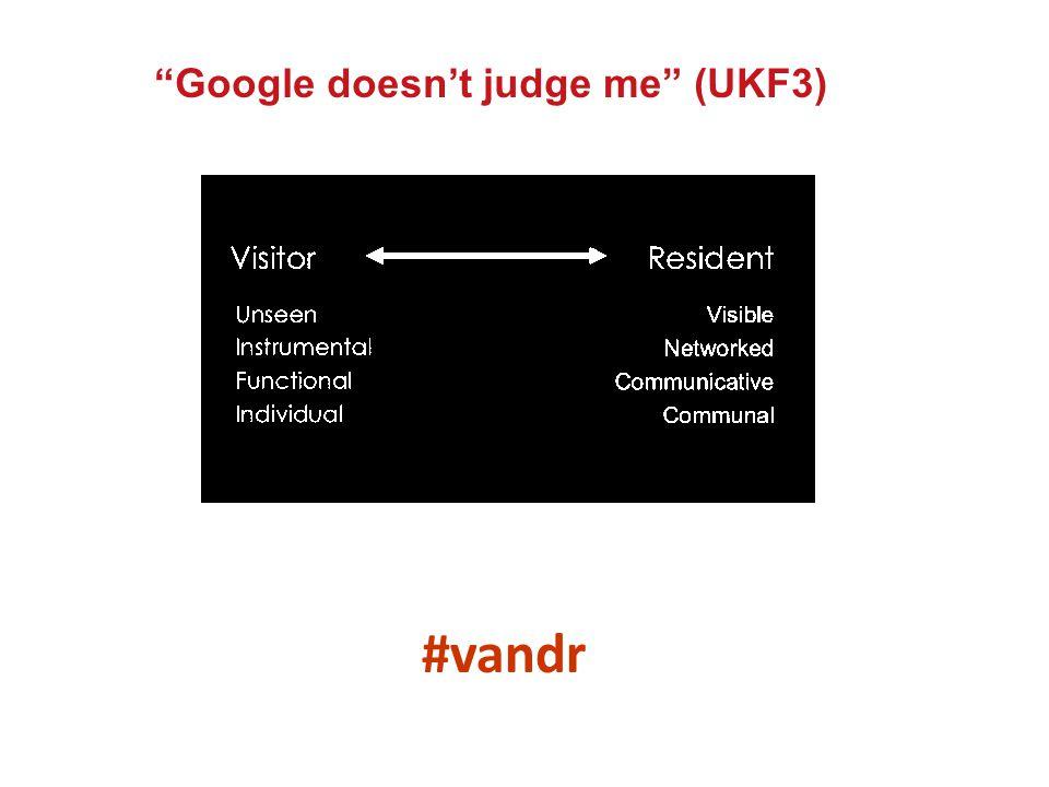 #vandr Google doesn't judge me (UKF3)