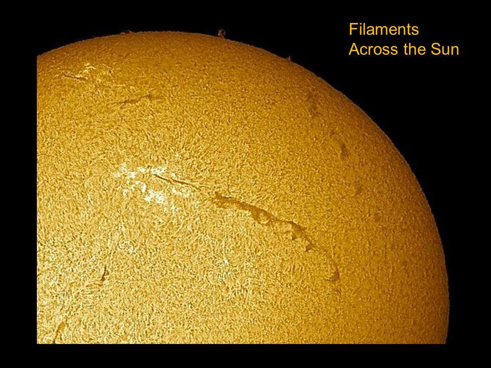 Filaments Across the Sun