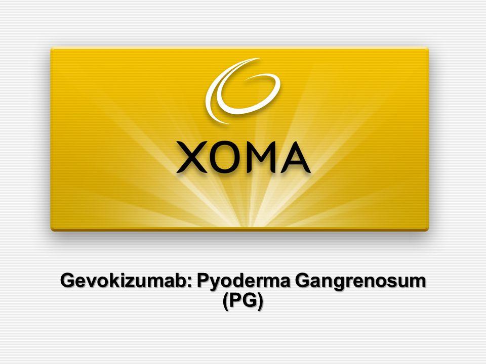 Gevokizumab: Pyoderma Gangrenosum (PG)