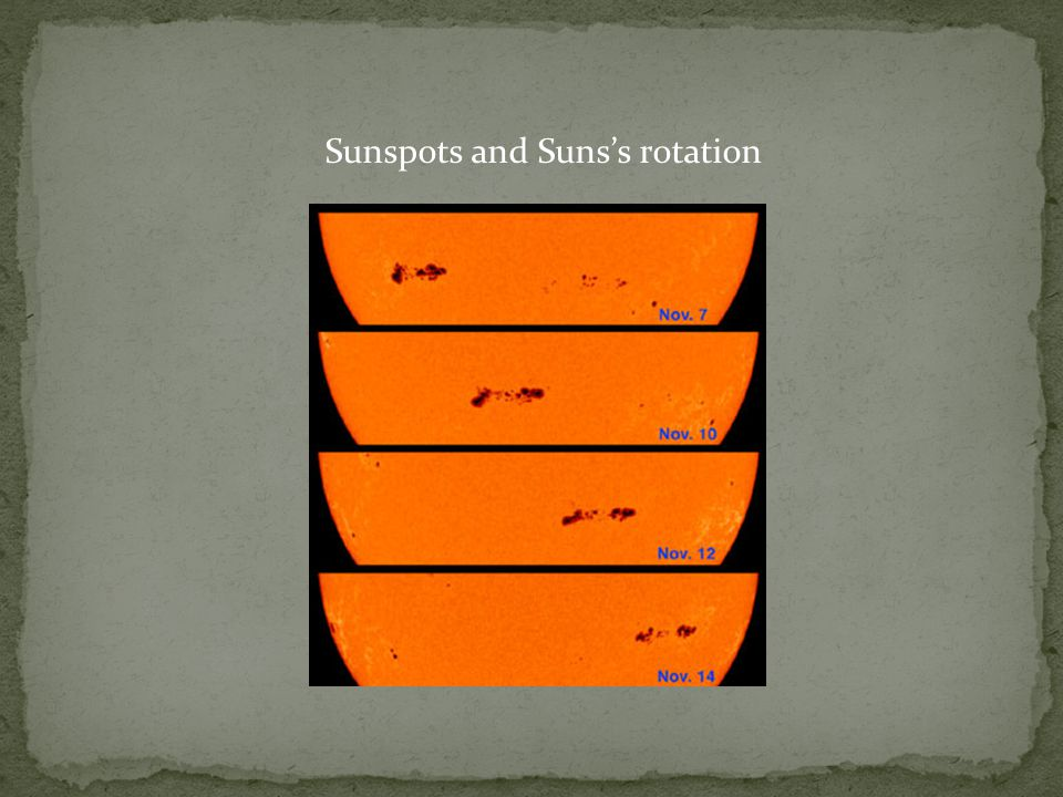 Sunspots and Suns's rotation