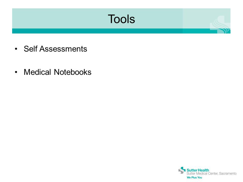 Tools Self Assessments Medical Notebooks