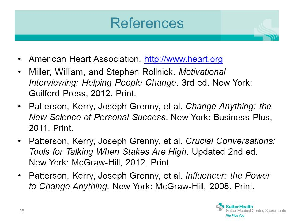 References American Heart Association.
