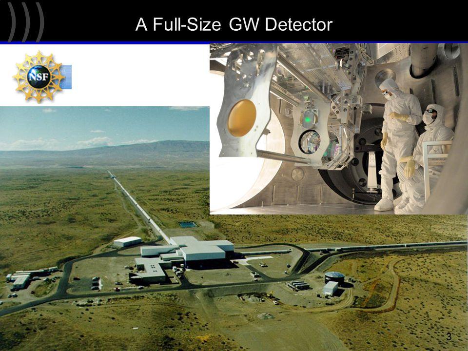 ))) A Full-Size GW Detector 3 LIGO Hanford Observatory (Washington state, USA)