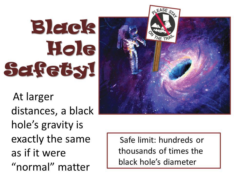 Black Hole Safety.