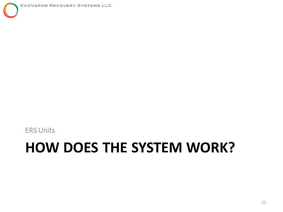 HOW DOES THE SYSTEM WORK? ERS Units 12