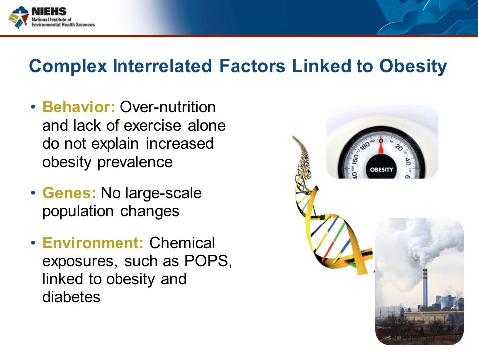 Complex Interrelated Factors Linked to Obesity Behavior: Over-nutrition and lack of exercise alone do not explain increased obesity prevalence Genes: