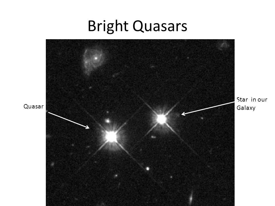 Bright Quasars Quasar Star in our Galaxy