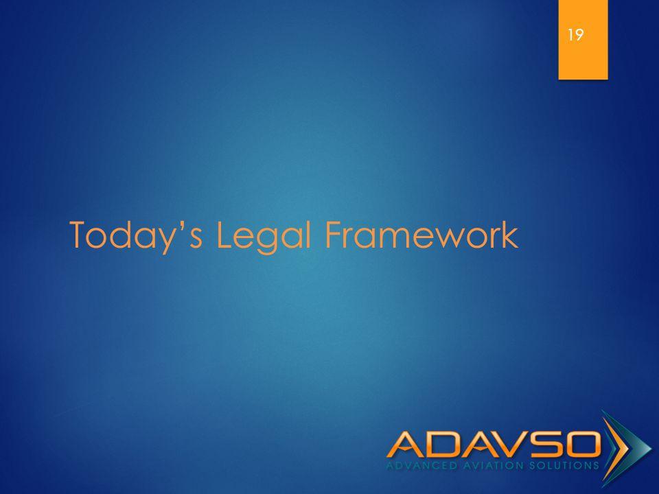 Today's Legal Framework 19