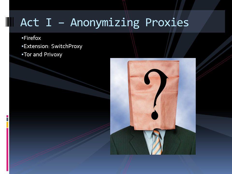 Google RatProxy Example  ratproxy.exe –v C:\cygwin –w ratproxy.log –p 8282 –d yourdomain.com –lfscm  Tell SwitchProxy to use Ratproxy.