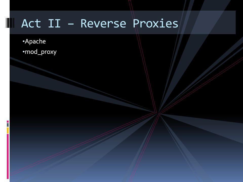 Apache mod_proxy Act II – Reverse Proxies