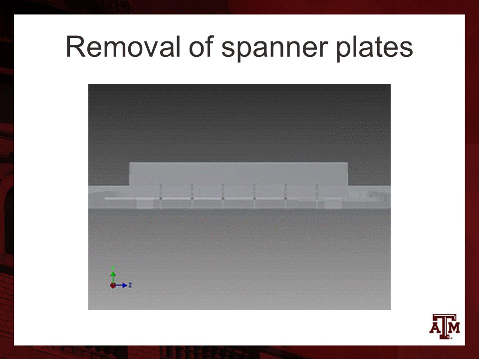 Removal of spanner plates