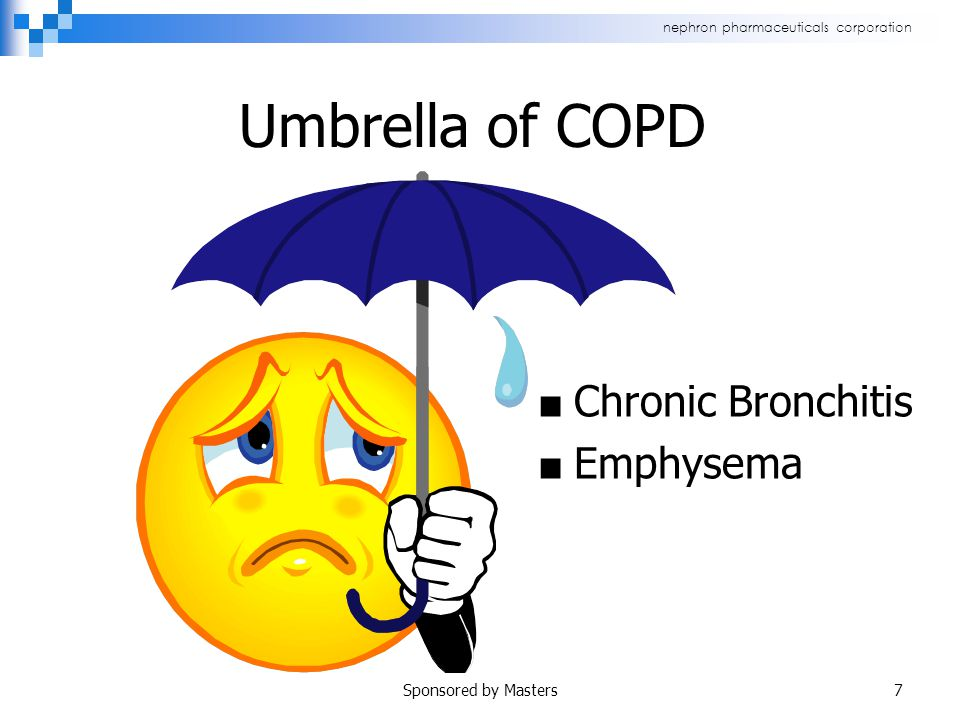 nephron pharmaceuticals corporation Umbrella of COPD ■ Chronic Bronchitis ■ Emphysema Sponsored by Masters7