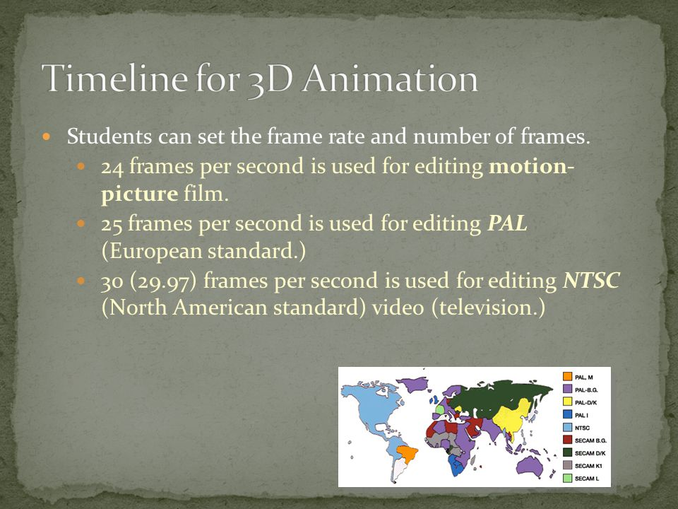 Students can set the frame rate and number of frames.