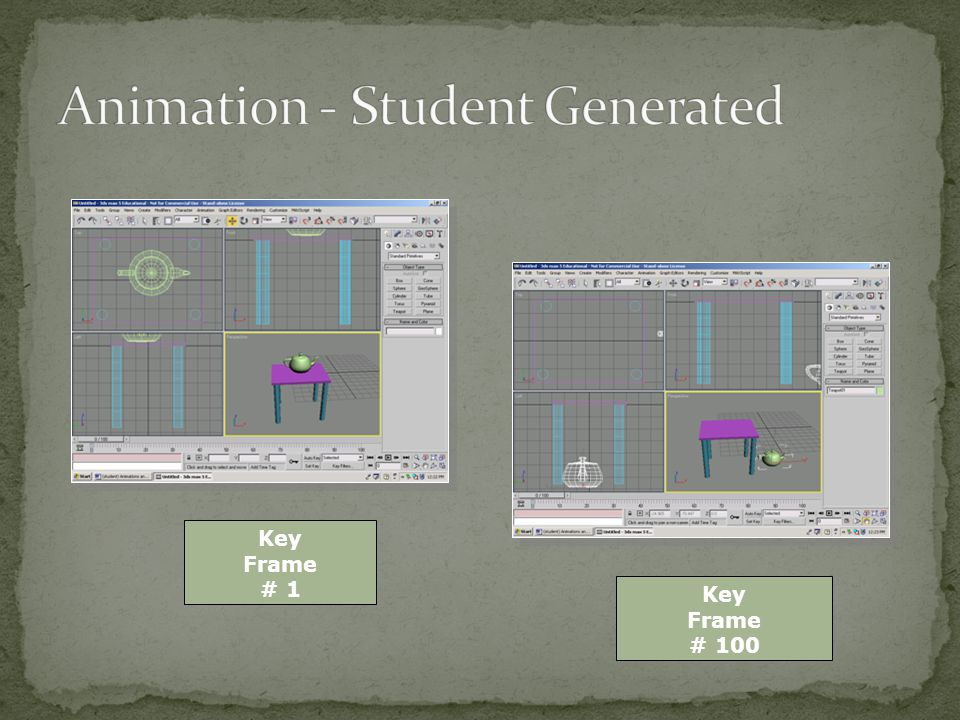Students can insert and delete key frames in appropriate locations.