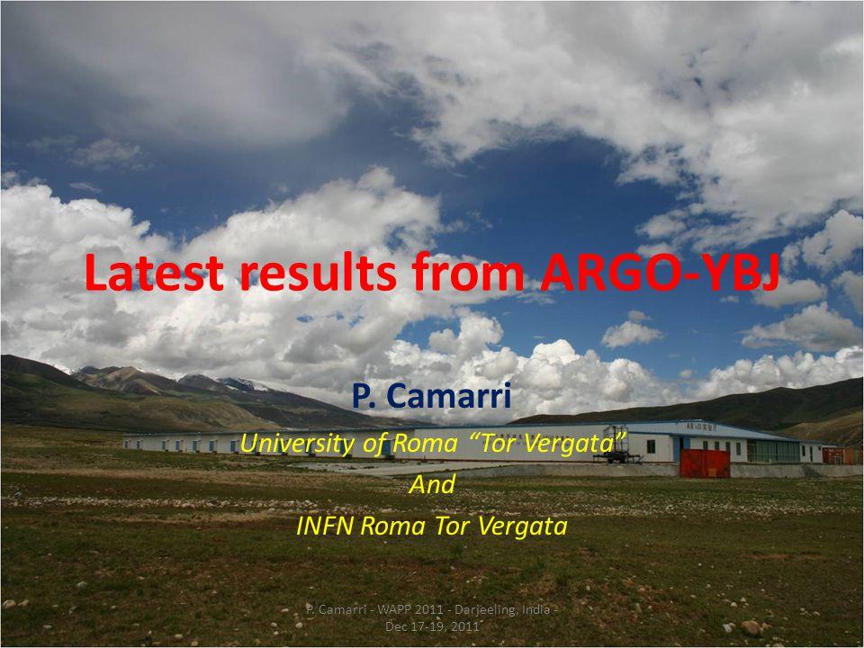 ARGO-YBJ result (very preliminary) 2011-290 to 325, S max =6.14σ The flux ~ 3 Crab P.
