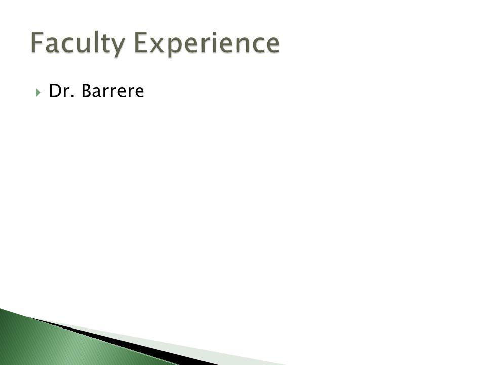  Dr. Barrere