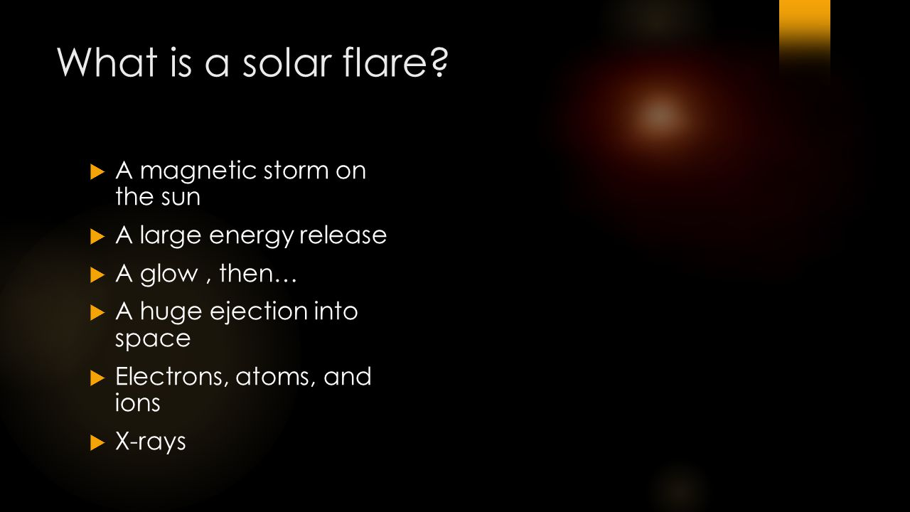 What is a solar flare.