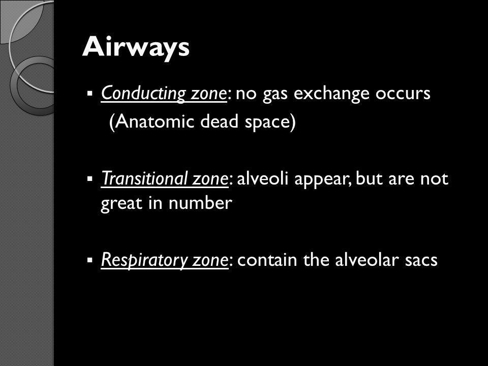 Total Lung Capacity (TLC) IRV TV ERV Volume of air in the lungs after a maximum inspiration TLC = IRV + TV + ERV + RV =5800ml RV IC FRC VC TLC RV