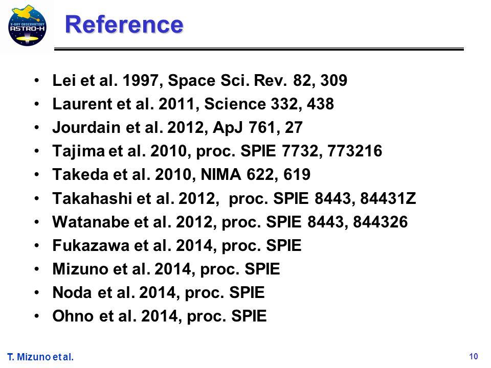10 T. Mizuno et al. Reference Lei et al. 1997, Space Sci.