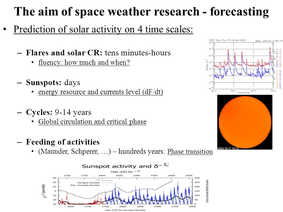 Sources of data 1.Solar observatory on the Earth surface (about 120 observatories in optical emission (cont.