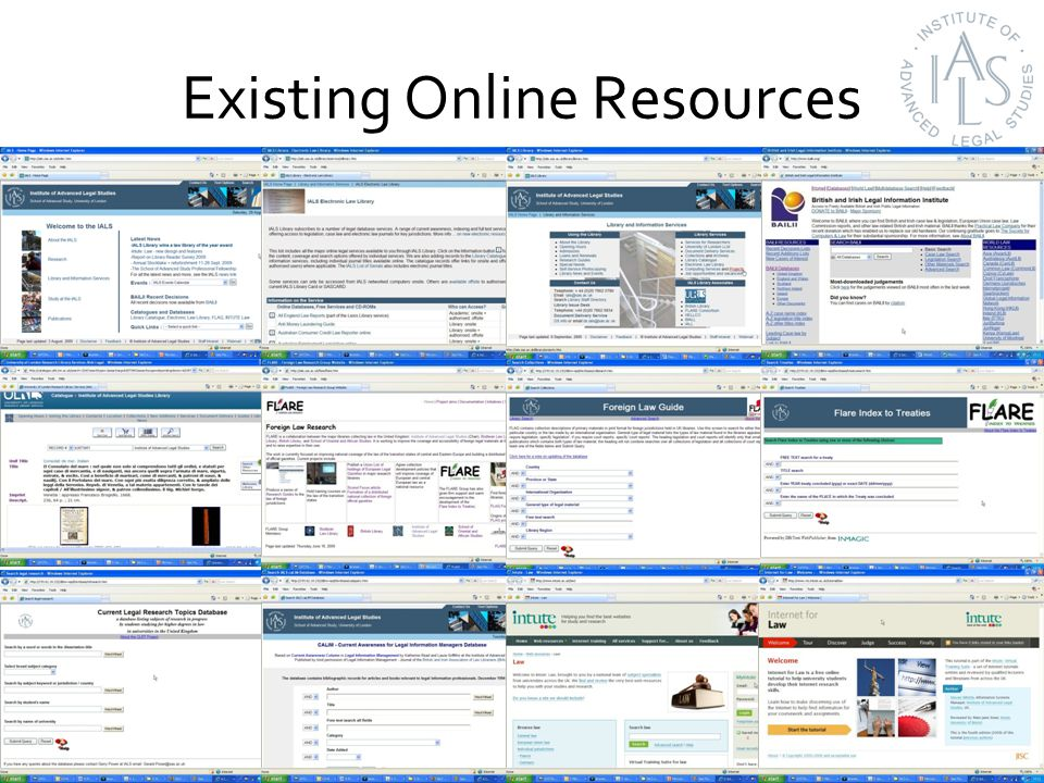 Online access to resources 12,558,777 hits in 2008/2009 3,291,425 views in 2008/2009 570,922 visitors in 2008/2009 From over 148 countries