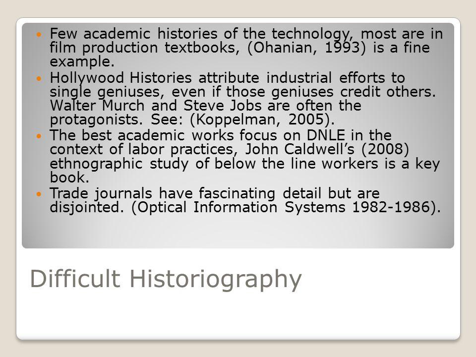 A Short History of Editing Moviola (1924) KEM Flatbed/Steenbeck (1931) Tape-to-Tape (Circa World War 2)