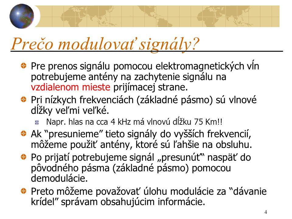 4 Prečo modulovať signály.
