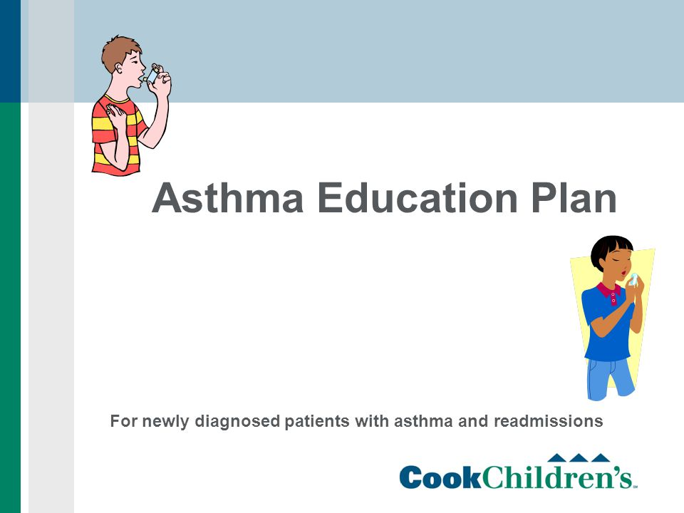 Asthma Education Plan For newly diagnosed patients with asthma and readmissions