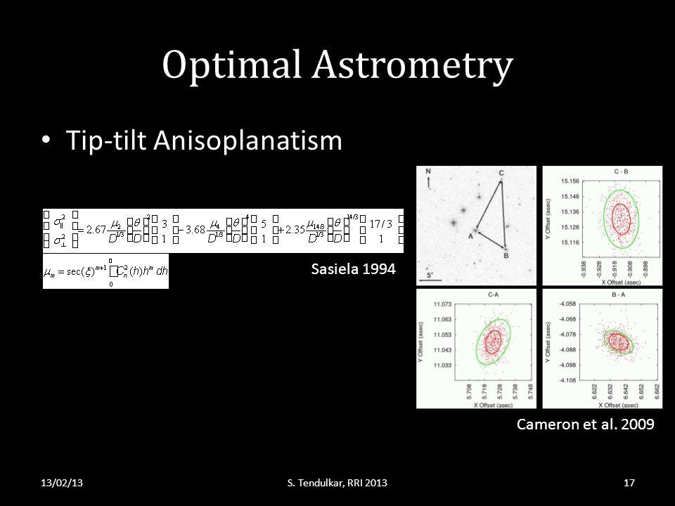 Optimal Astrometry Tip-tilt Anisoplanatism 13/02/13S.