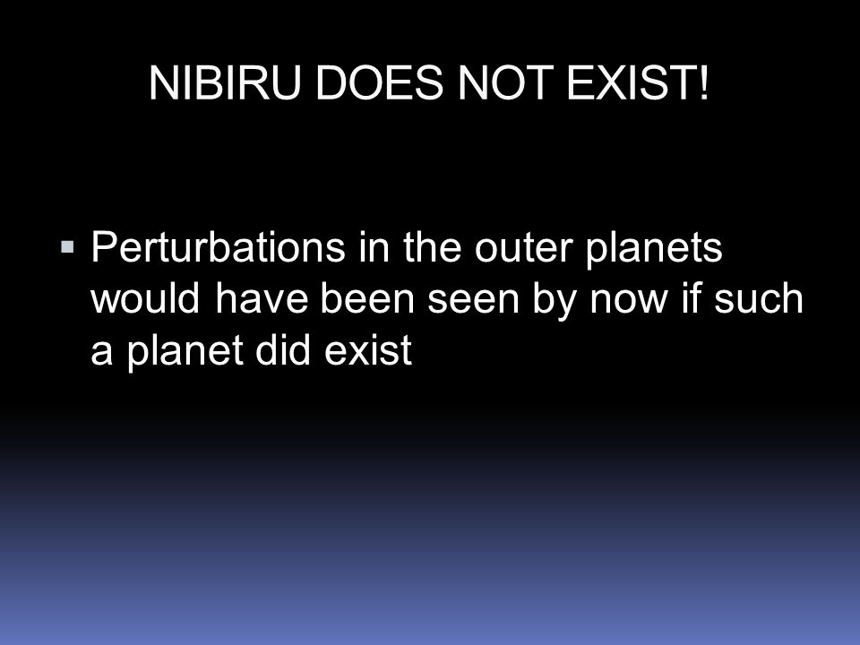NIBIRU DOES NOT EXIST.