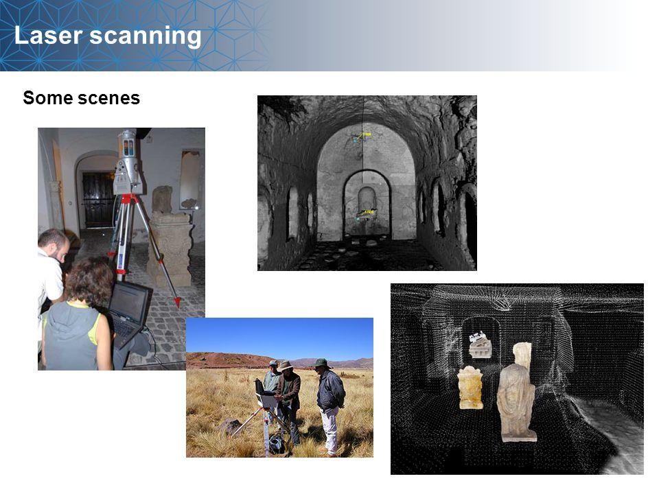 Laser scanning Some scenes