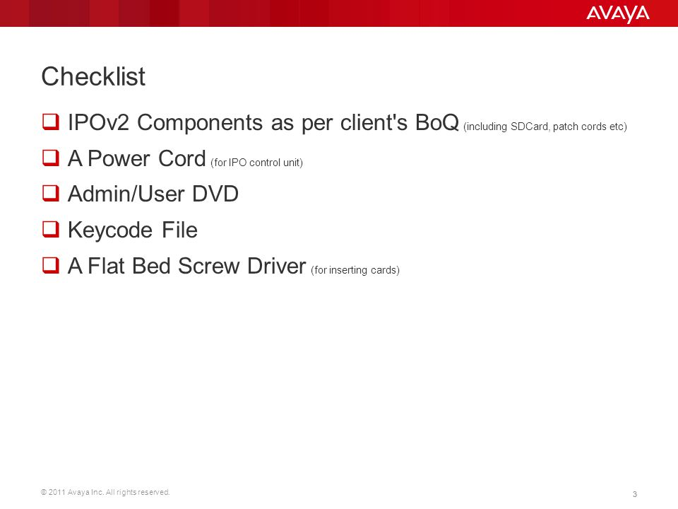 © 2011 Avaya Inc. All rights reserved. 34 Manager Audit Trail  Shows last 16 changes