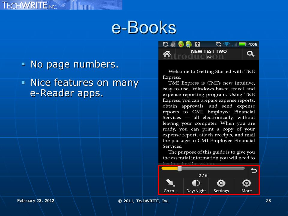 e-Books  No page numbers.  Nice features on many e-Reader apps.
