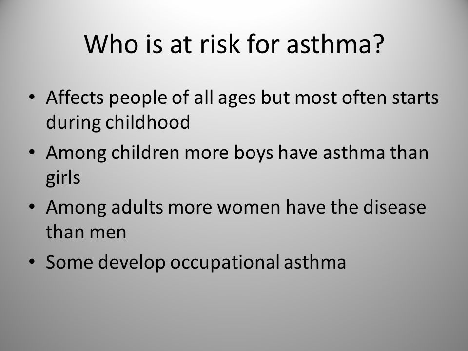 Who is at risk for asthma.