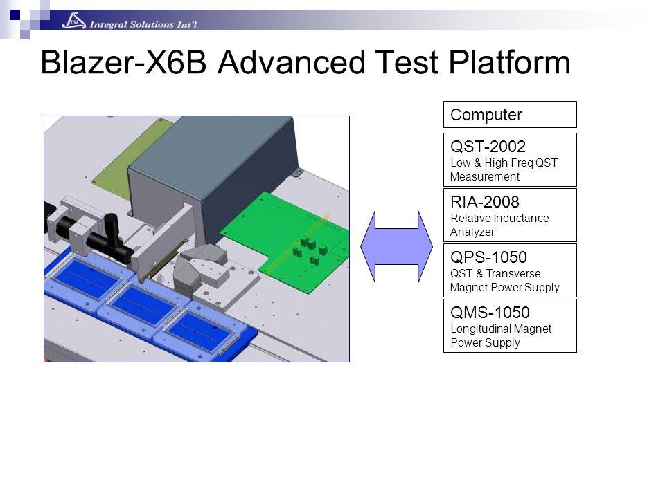 Blazer-X6B Advanced Test Platform QST-2002 Low & High Freq QST Measurement QPS-1050 QST & Transverse Magnet Power Supply QMS-1050 Longitudinal Magnet Power Supply RIA-2008 Relative Inductance Analyzer Computer
