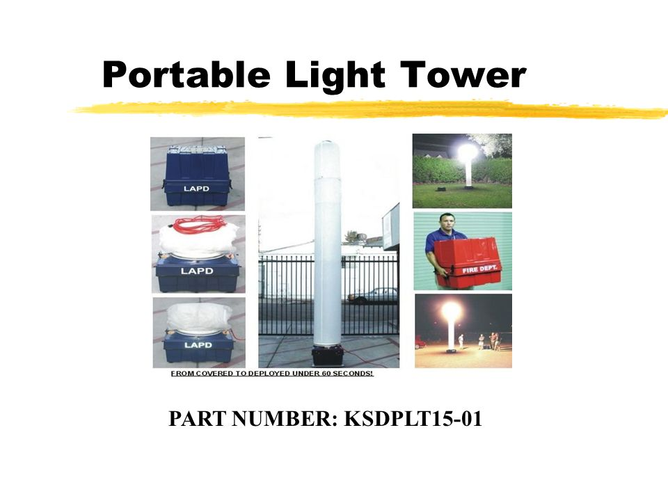 Portable Light Tower PART NUMBER: KSDPLT15-01