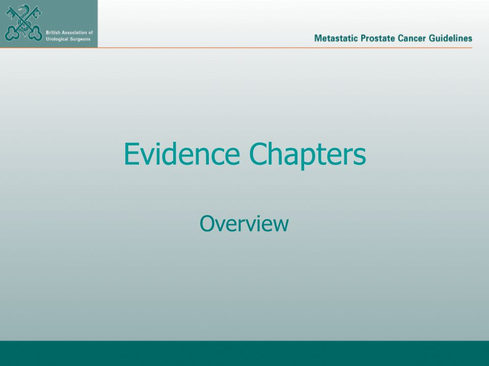 Evidence Chapters Overview