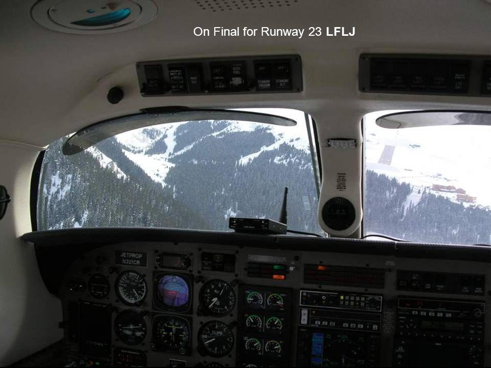On Final for Runway 23 LFLJ