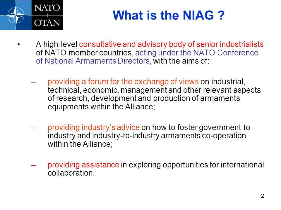 2 What is the NIAG .