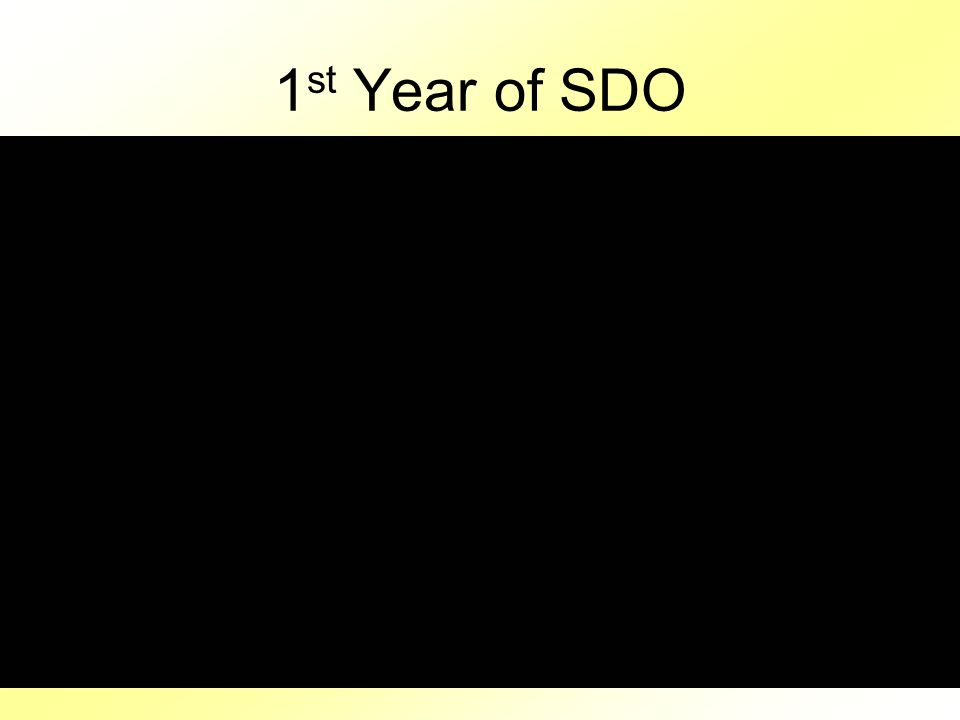 1 st Year of SDO