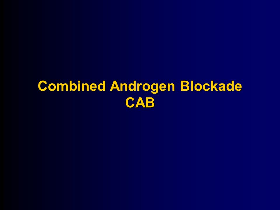Combined Androgen Blockade CAB
